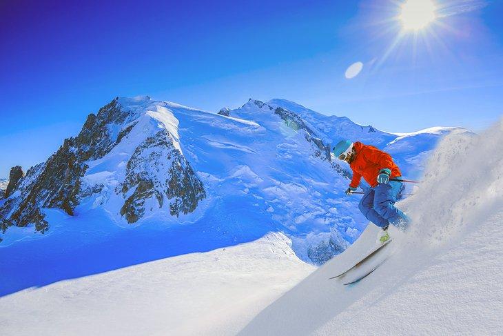 Slidinejimas Chamonix